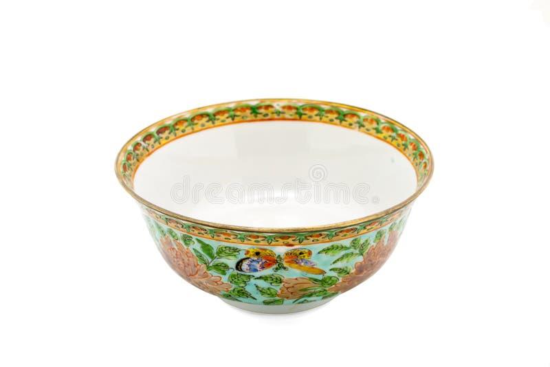 Antykwarski Chiński Ceramiczny puchar odizolowywa obraz royalty free