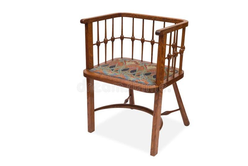 Antykwarski Drewniany Łomota krzesło fotografia stock