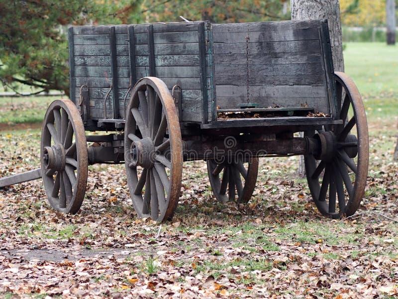 Antykwarski Drewniany furgon fotografia stock