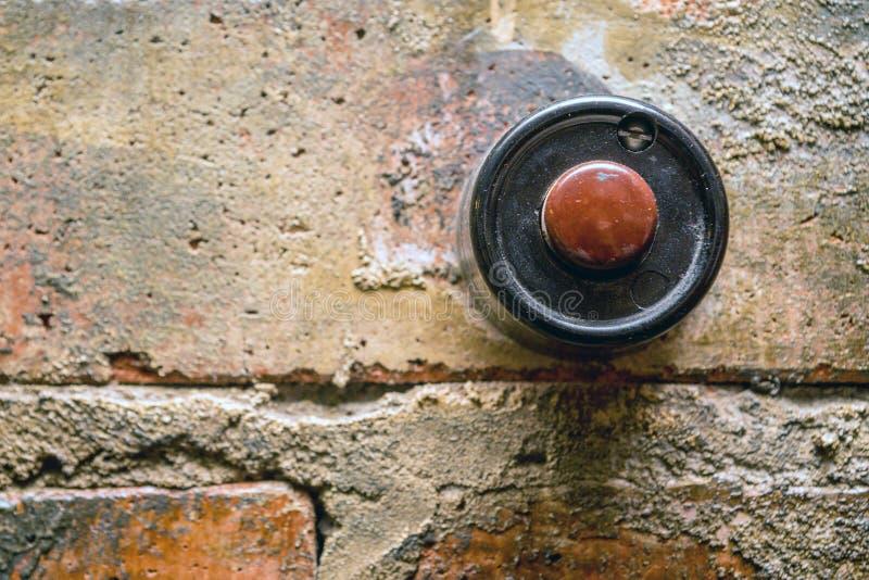Antykwarski drzwiowy dzwon zdjęcia stock
