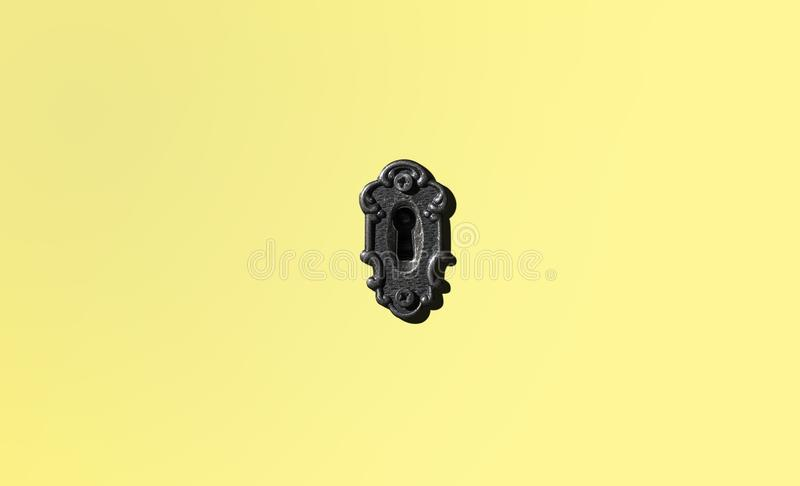 antykwarski drzwiowy kędziorek minimalista obrazy stock