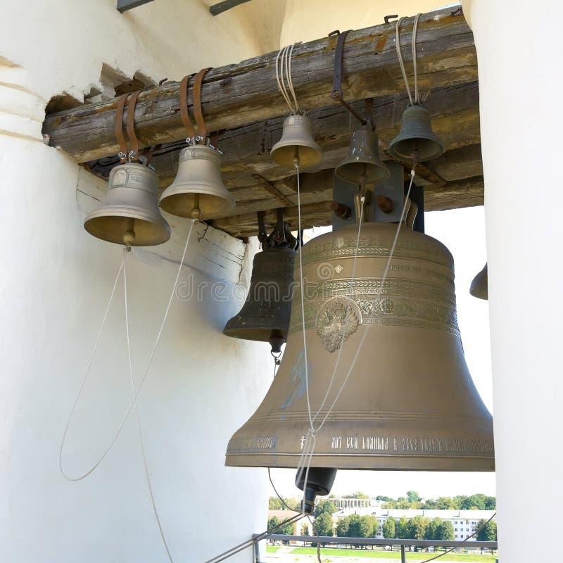 Antykwarski dzwon (Novgorod Novgorod Rosja Kremlin,) fotografia royalty free