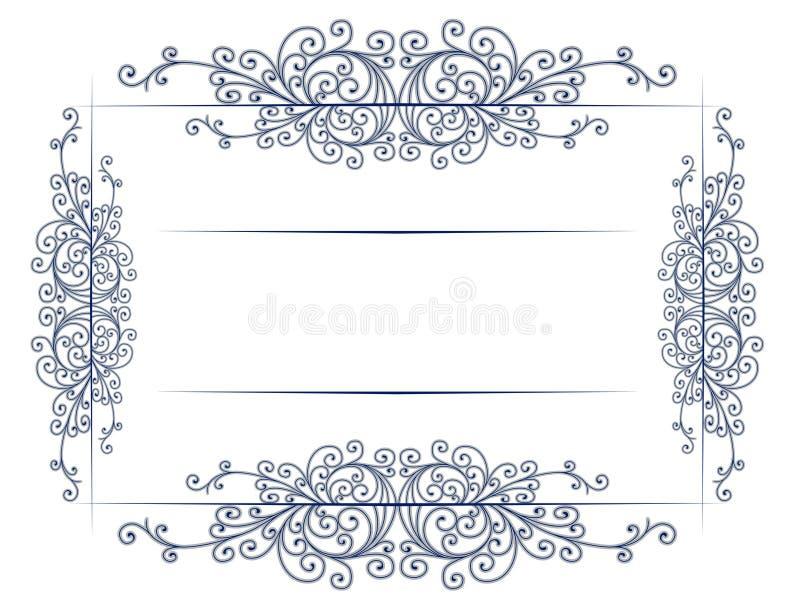 antykwarski granicy koronki rocznik royalty ilustracja