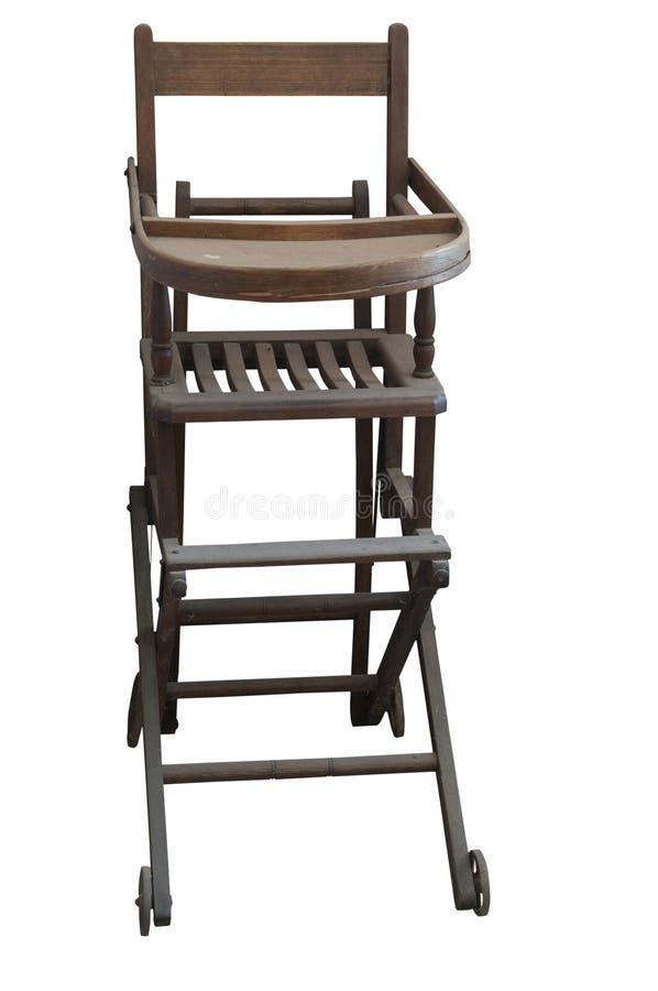 Antykwarski Highchair zdjęcia stock
