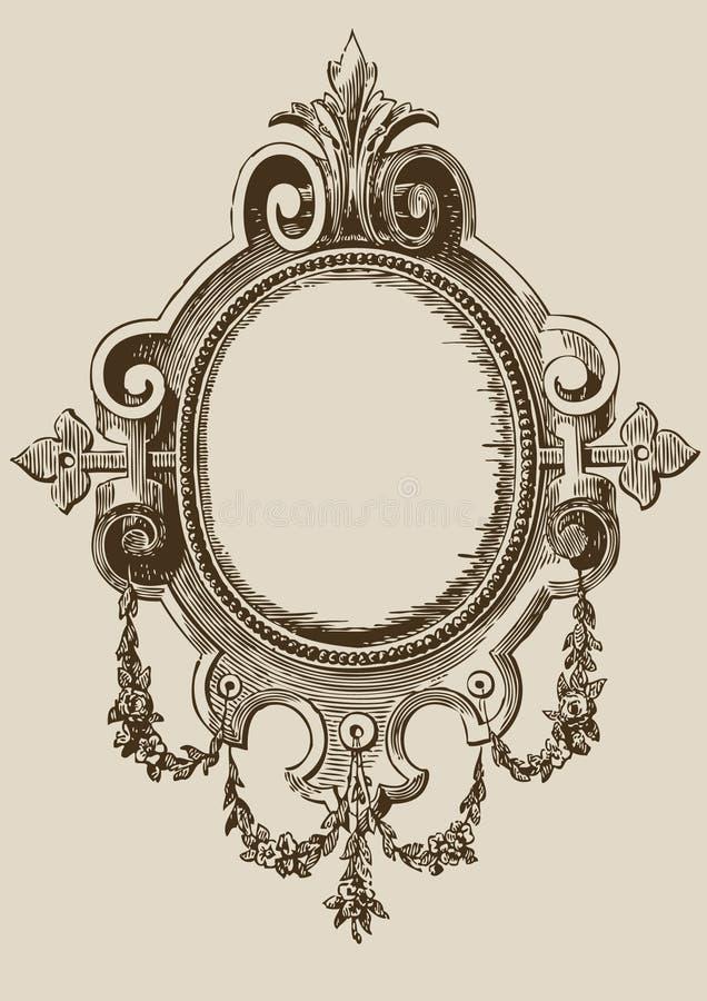 antykwarski ilustraci lustro royalty ilustracja