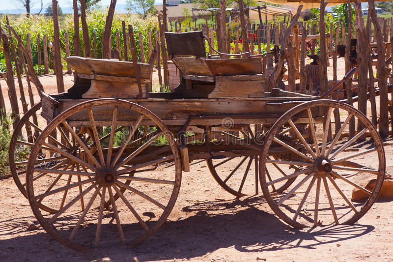 Antykwarski koń Rysujący Zapluskwiony fracht fotografia stock