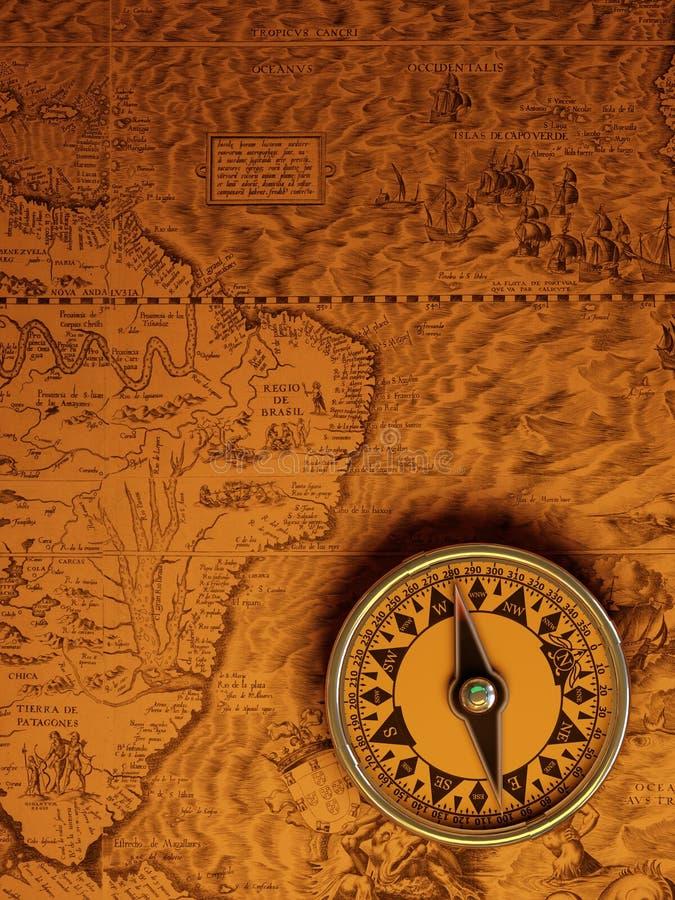 antykwarski kompas royalty ilustracja
