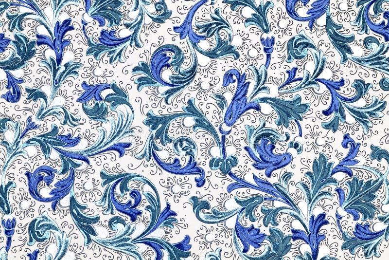 antykwarski kwiecisty papieru wzór royalty ilustracja