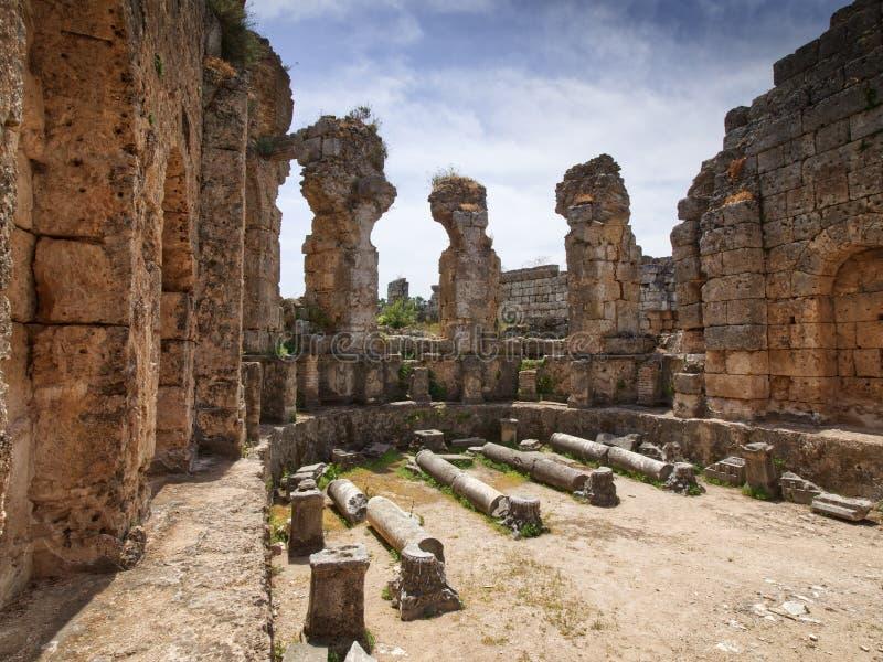 Antykwarski miasto Perge, Antalya obrazy stock