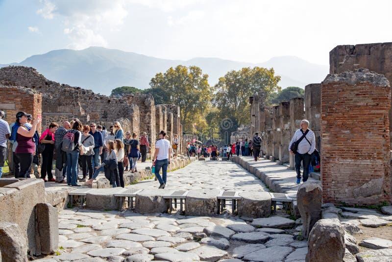 Antykwarski miejsce Pompei zdjęcie stock