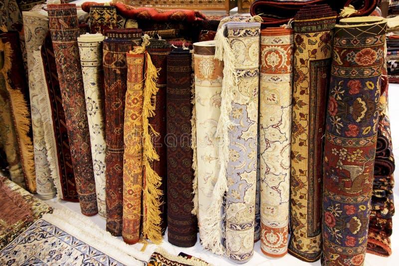 Antykwarski Perski dywan w Isfahan, Iran fotografia royalty free