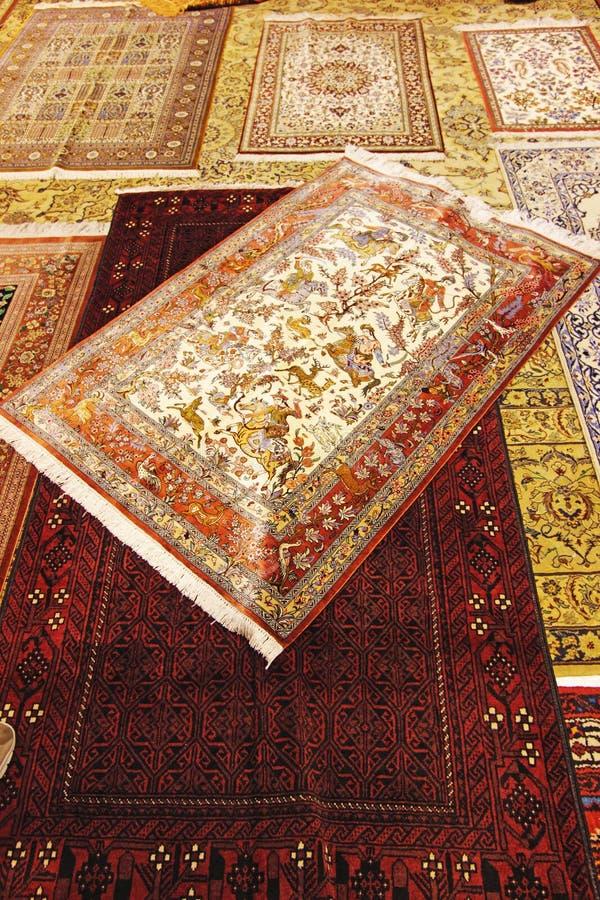 Antykwarski Perski dywanik w Isfahan, Iran fotografia stock