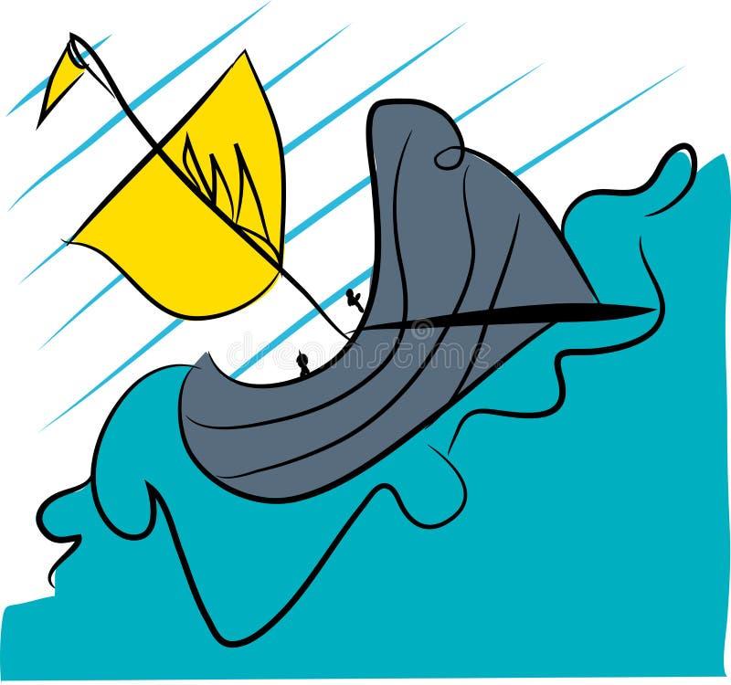 Antykwarski pirata statek royalty ilustracja