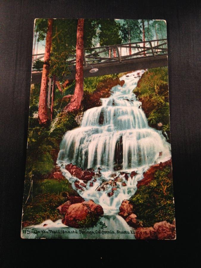 Antykwarski Pocztówkowy Shasta Skacze Kalifornia zdjęcia royalty free