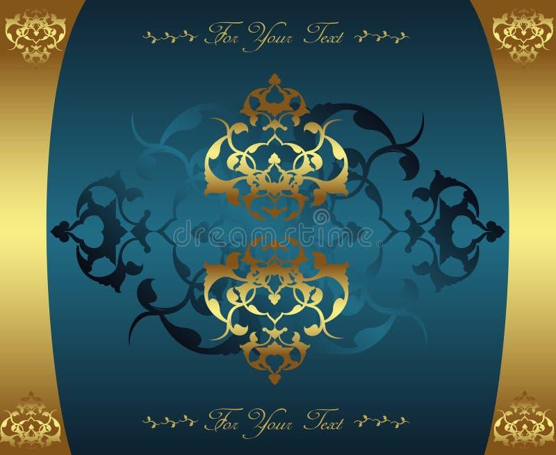 antykwarski projekta złota ottoman royalty ilustracja