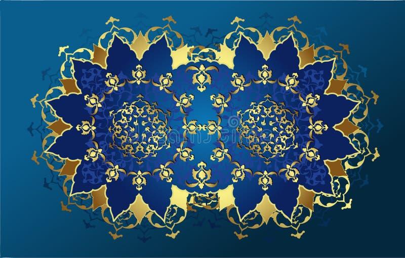antykwarski projekta złota ottoman ilustracji