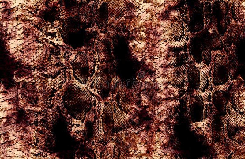 Antykwarski snakeskin i czerwieni powierzchni wzór obrazy royalty free