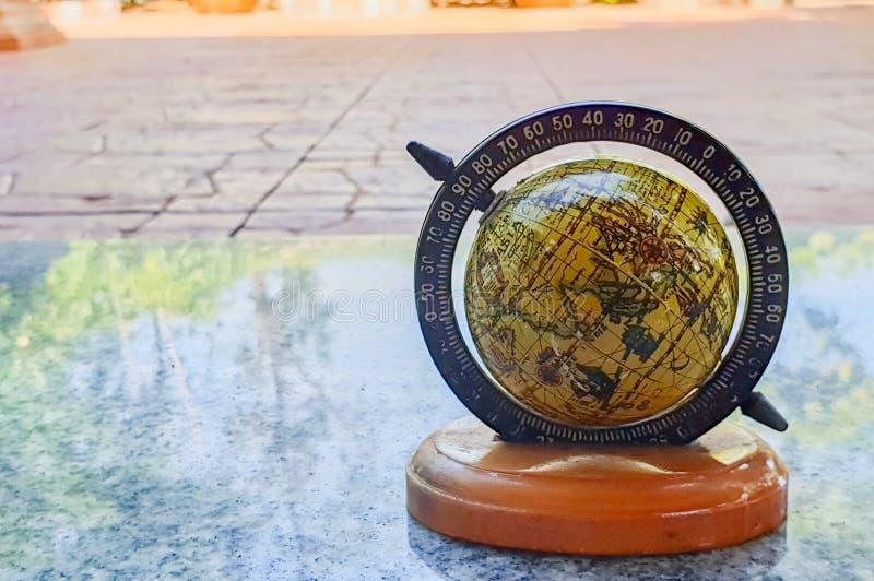 Antykwarski stary świat mapy Globalny model zdjęcie stock