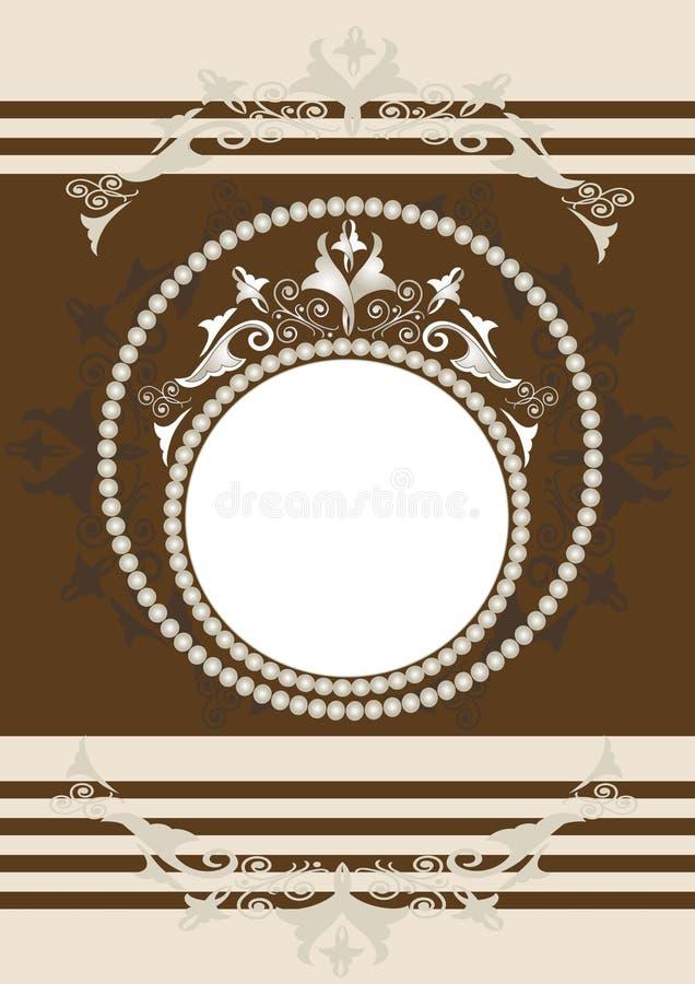 antykwarski sztandaru ramy ornamental ilustracji