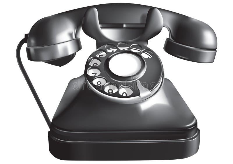 antykwarski telefon ilustracji