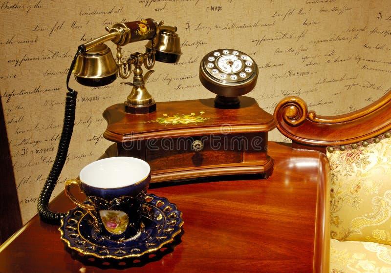 antykwarski telefon fotografia royalty free