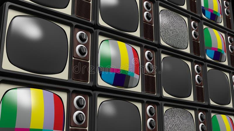 Antykwarski telewizoru tło royalty ilustracja