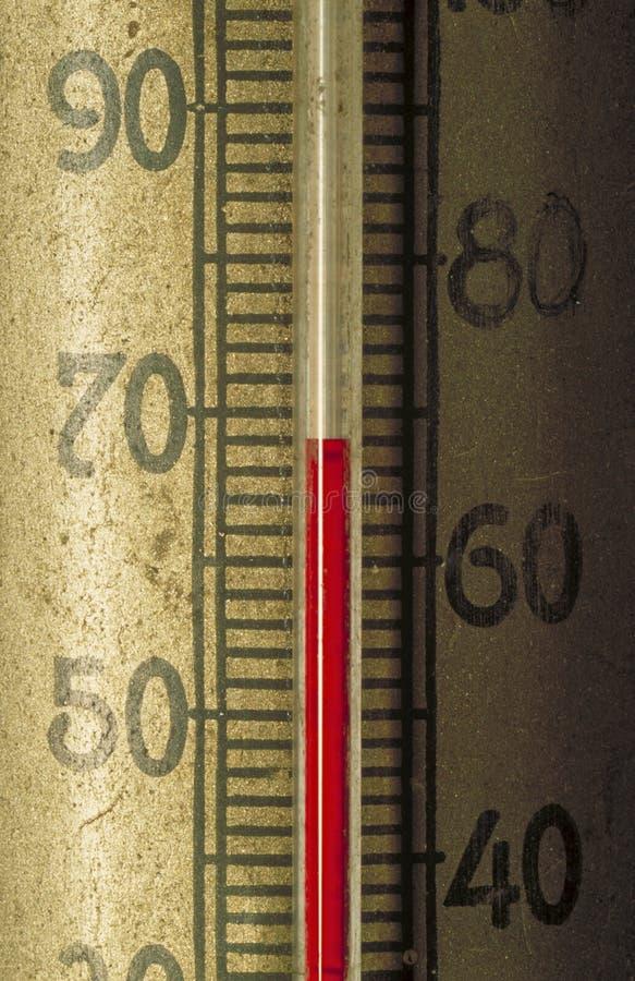 Antykwarski termometr 68 stopni zdjęcie royalty free