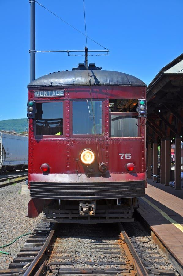 Antykwarski tramwaj przy platformą, Scranton, PA, usa fotografia stock