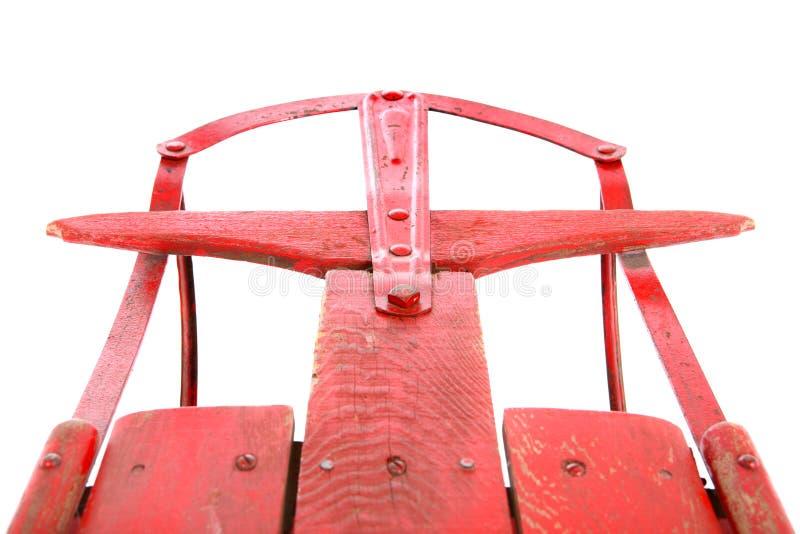 antykwarski zbliżenia czerwieni sanie zdjęcie royalty free