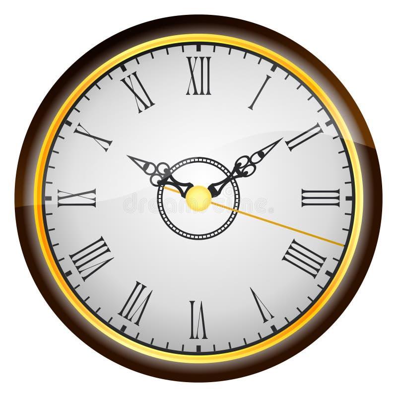 antykwarski zegar ilustracja wektor