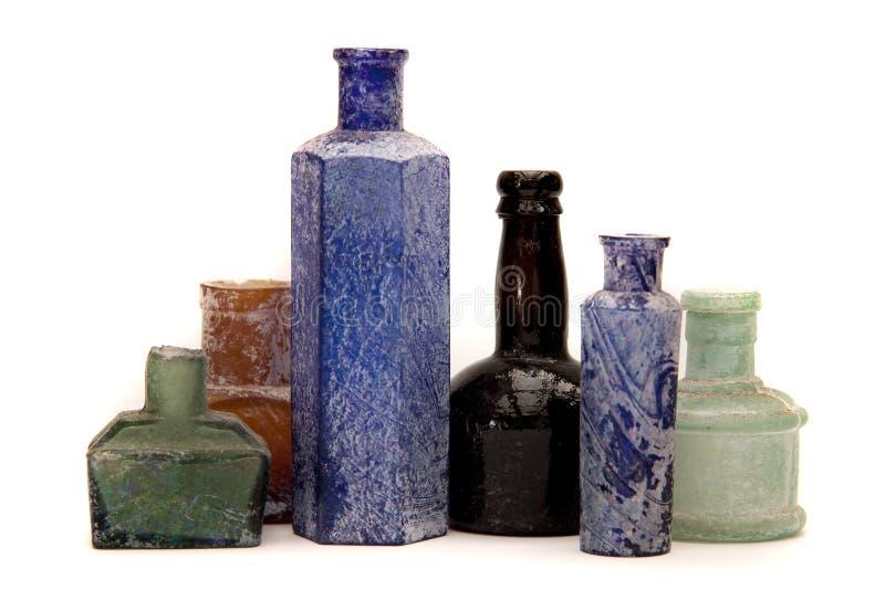 antykwarskie butelki obrazy royalty free