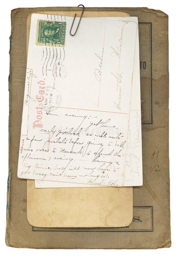 antykwarskie książkowe pocztówki zdjęcie stock