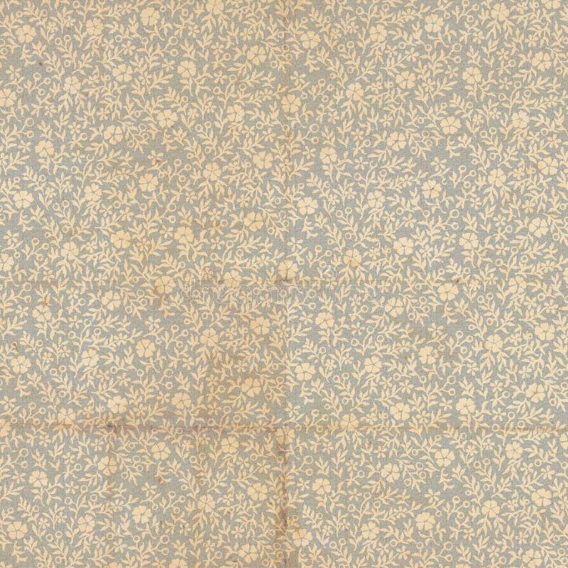 Antykwarskiego rocznika Książkowej końcówki Kwiecisty papier zdjęcia stock