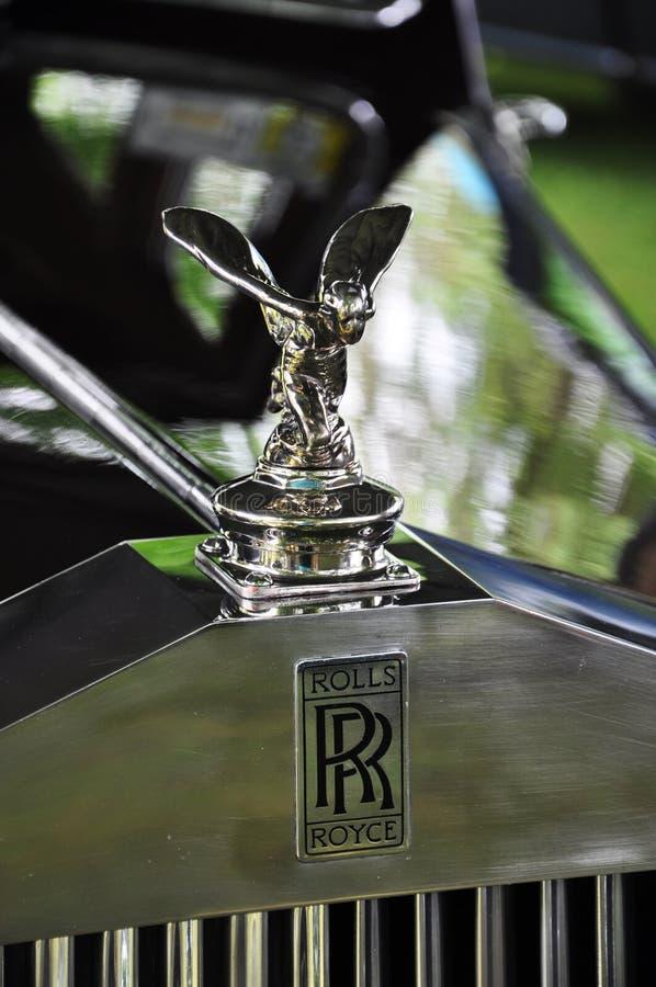 antykwarskiego samochodu rolek royce przedstawienie zdjęcia stock