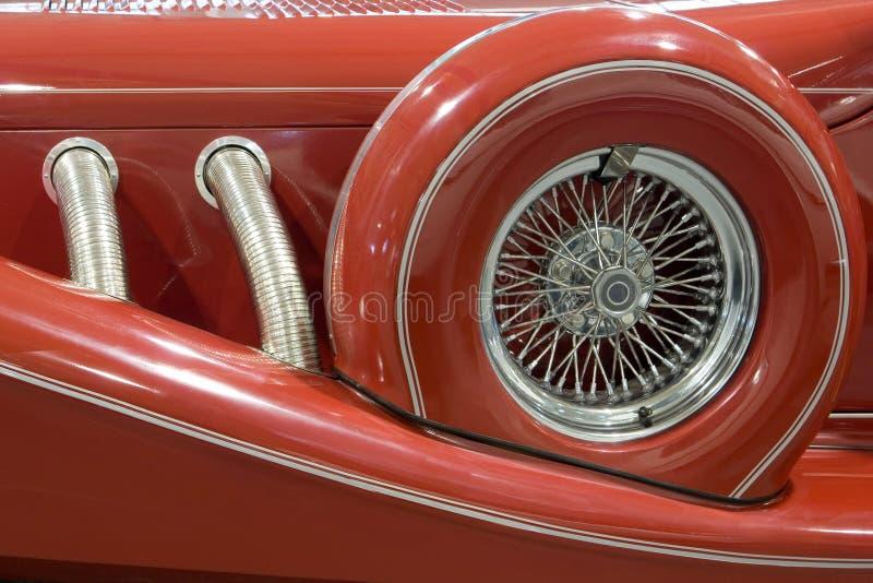 antykwarskiego samochodu zbliżenie zdjęcia royalty free