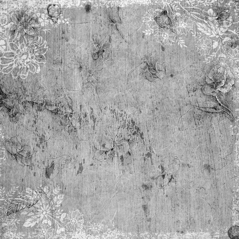 antykwarskiego tła kwiecisty tematu rocznik royalty ilustracja