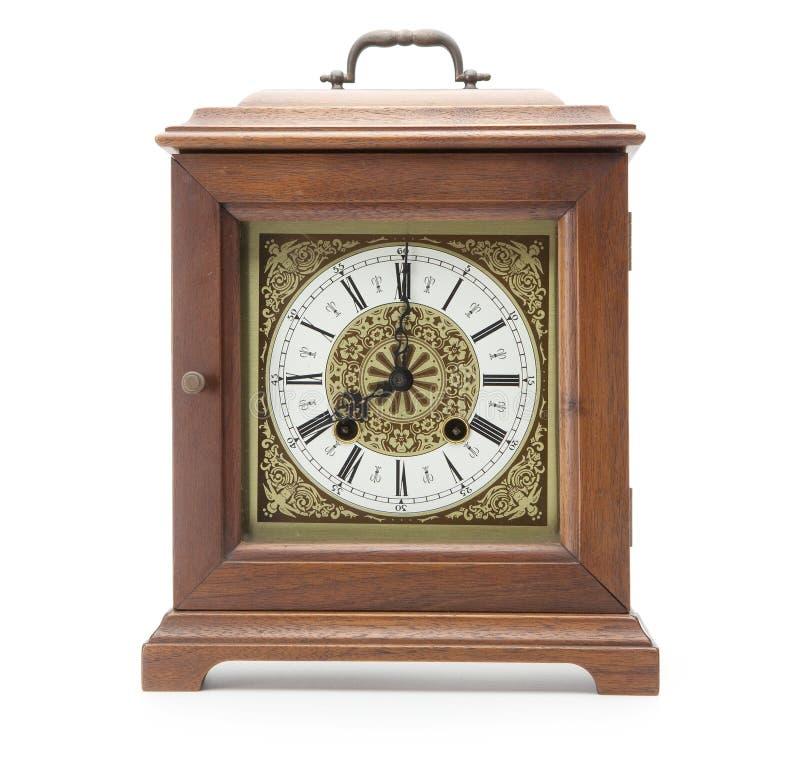 antykwarskiego zegaru odosobniony biel zdjęcie royalty free