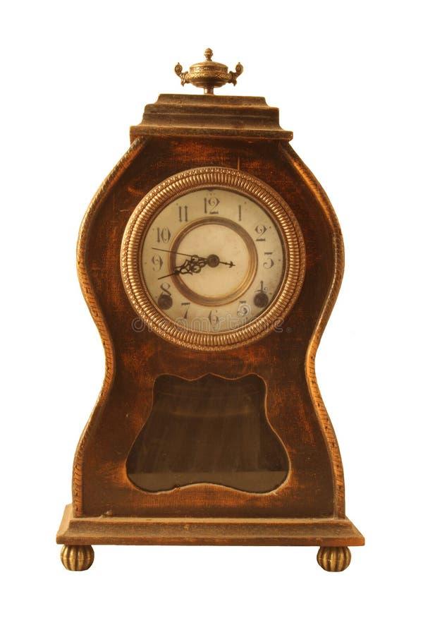 antykwarskiego zegaru odosobniony biel obraz royalty free