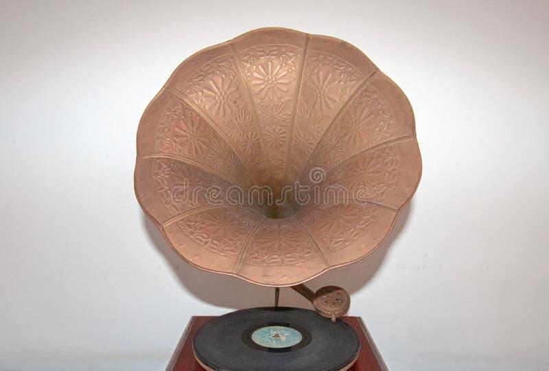 Antykwarskiego zwycięzcy Victrola fonografu Przenośny Gramofonowy Dokumentacyjny gracz zdjęcie stock