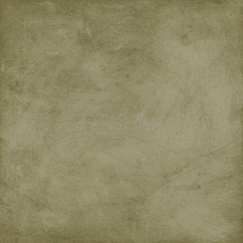 Antykwarskiej rocznik zieleni Grungy Porysowany Stylowy tło ilustracja wektor
