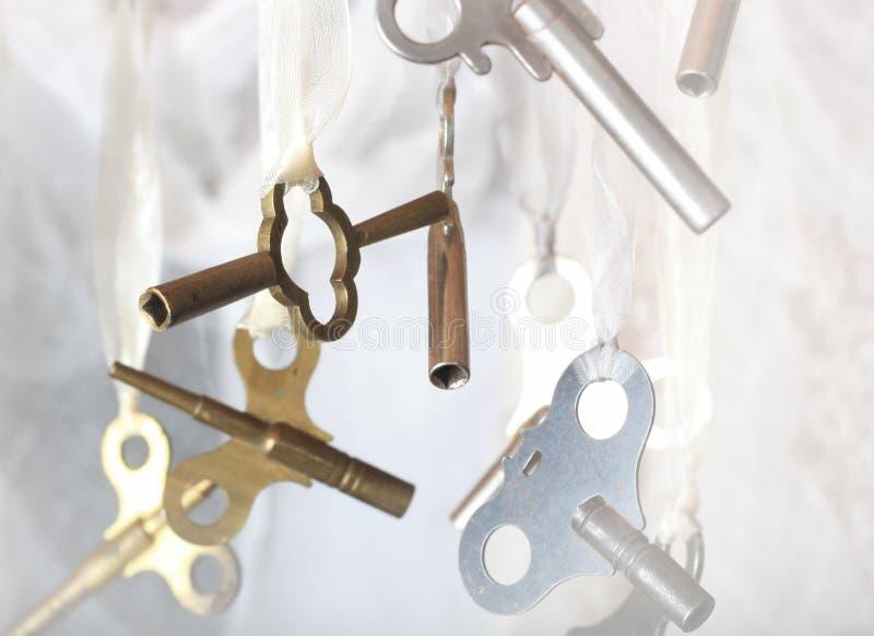 antykwarskiej zegaru kopii kończyć klucz zdjęcie royalty free