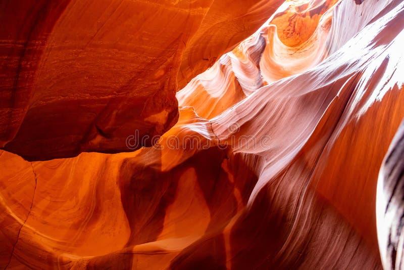 Antylopa jar blisko strony, Arizona, usa Piaskowcowe formacje na Navajo narodzie zdjęcia royalty free