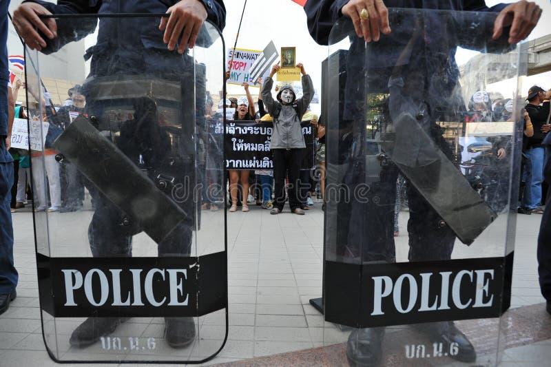 antyrządowy 'biel maski' protest w Bangkok zdjęcia stock