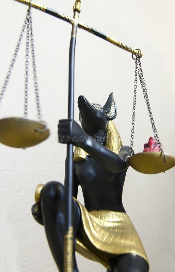 Anubis小雕象  免版税库存图片