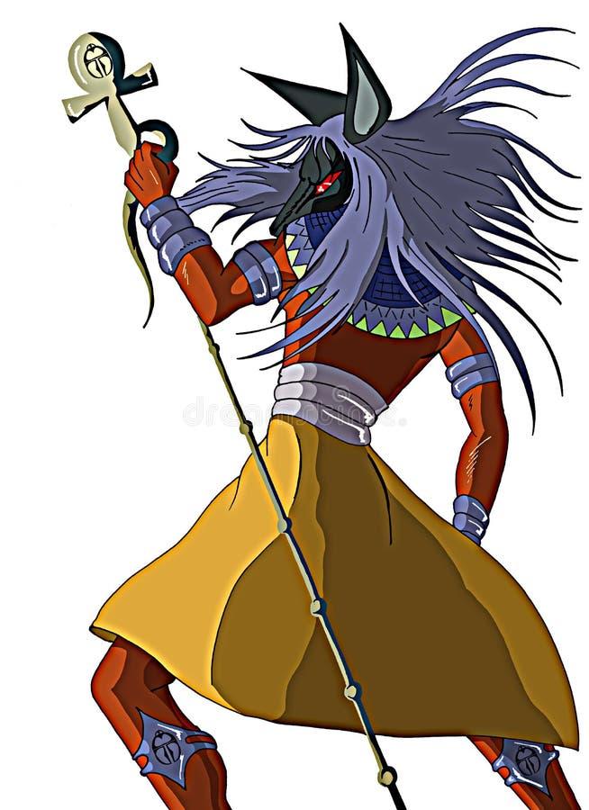 Anubis illustration stock