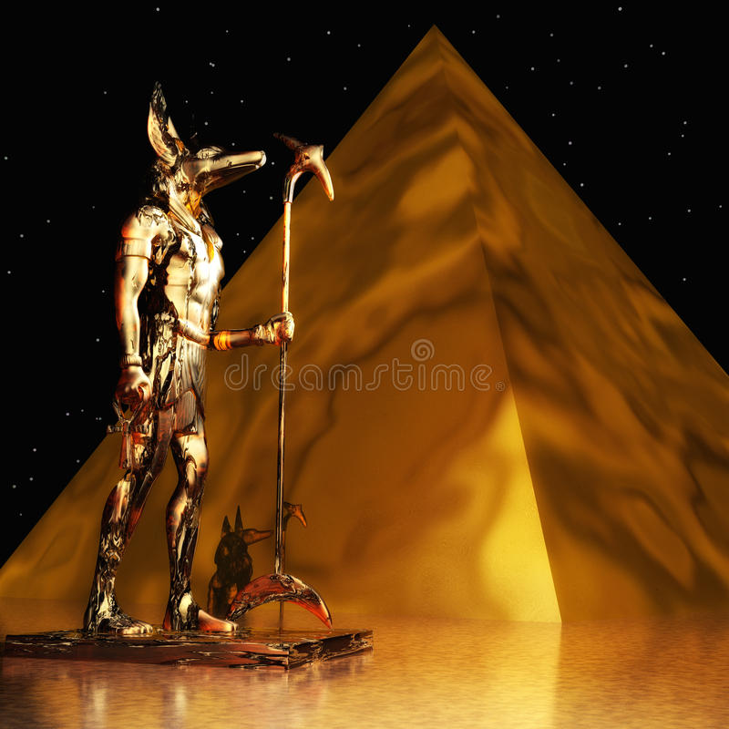 Anubis stock illustrationer