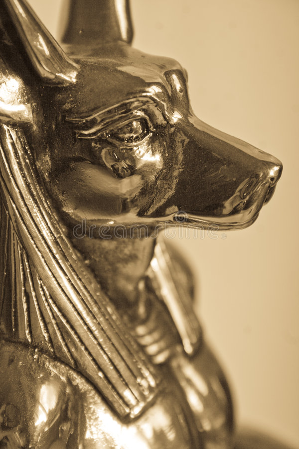 Anubis. A golden ornament of Egyptian God Anubis royalty free stock image