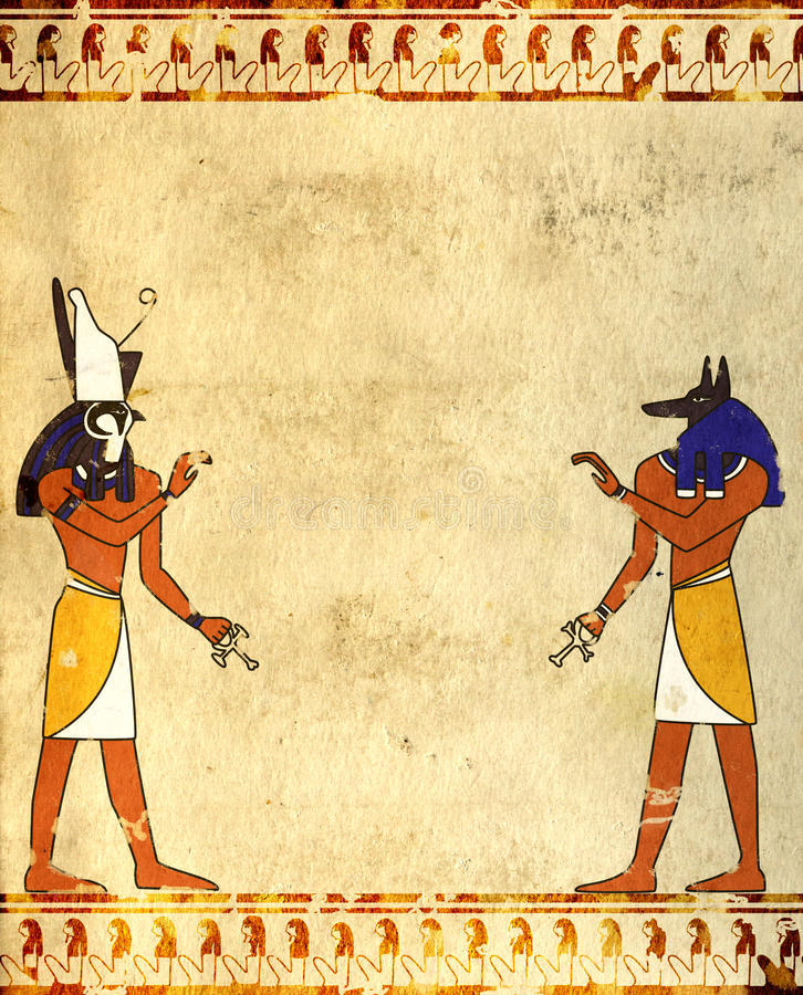 Free Anubis And Horus Royalty Free Stock Photos - 24018168
