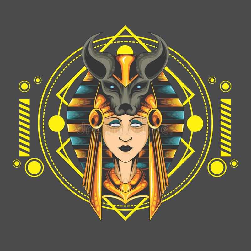 Anubis de Madame illustration stock