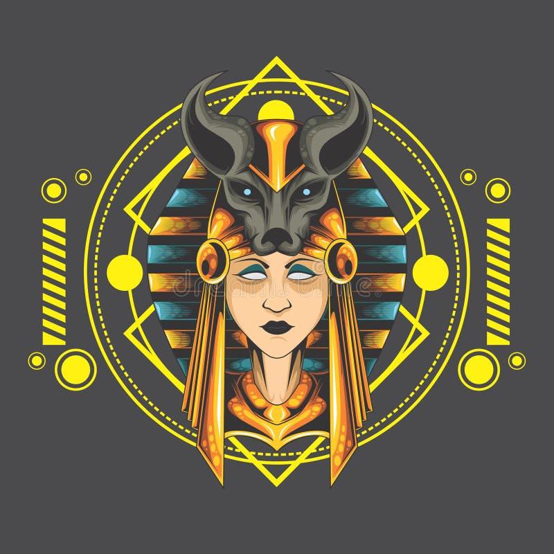 Anubis di signora illustrazione di stock